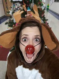 Kaet Barron as Rudolph the Red-Nosed Reindeer